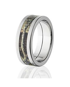 BUI Pattern Titanium Camo Ring, Cross Brush Mossy Oak Camouflage