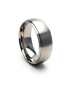 Mens Titanium Jewelry, 8mm Titanium Band
