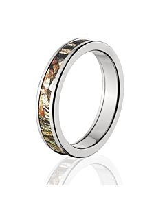 licensed mossy oak duck blind camo rings premium high polish finish camo bands cobalt camo rings - Duck Band Wedding Rings