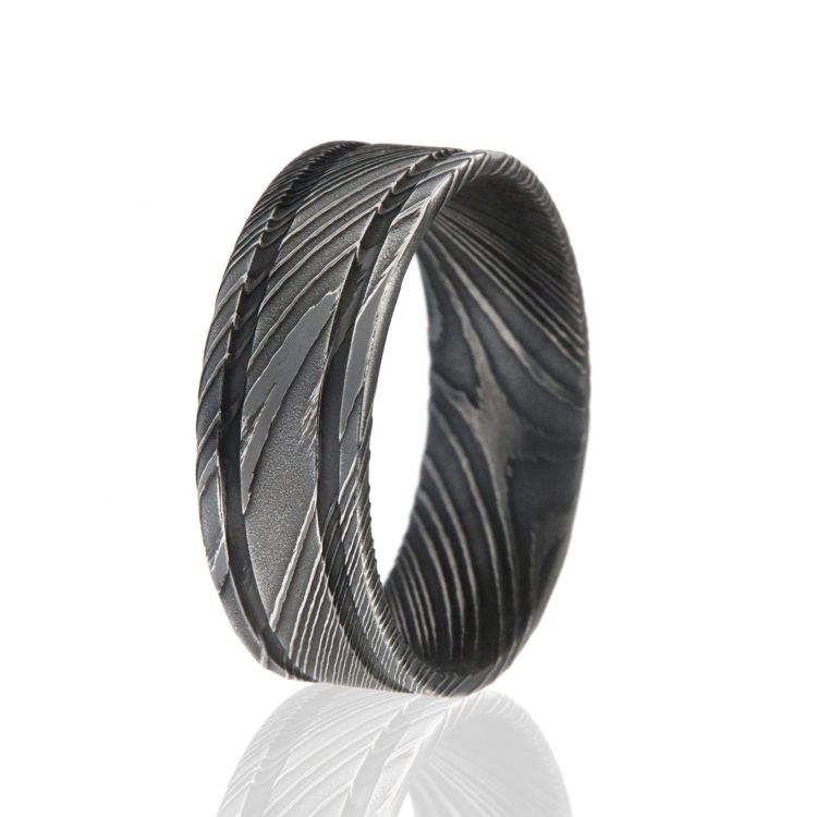 American Made Damascus Steel Wedding Bands Hand Shaped Quality: Inexpensive Wedding Bands For Men Duck At Reisefeber.org