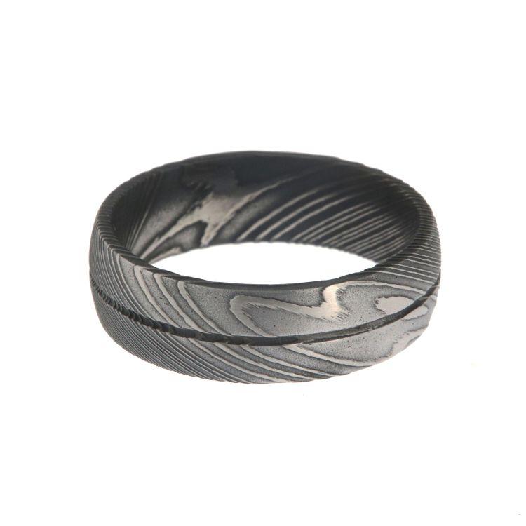 Damascus Steel Rings For Men Usa Made Damascus Bands Black Wedding Bands