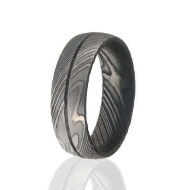 Damascus Steel Rings For Men USA Made Damascus Bands Black Wedding Bands