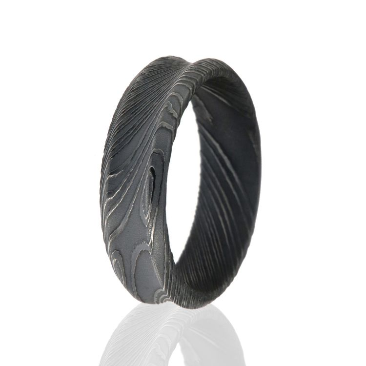 Damascus Steel Wedding Bands American Made Rings For Men