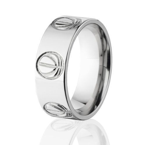 69a0d10d5563c Basketball Outline Ring, Titanium Rings, Basketball Rings Jewelry