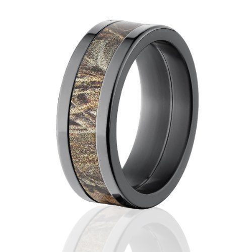 Realtree Max 4 Camo Rings Black Camouflage Wedding Rings