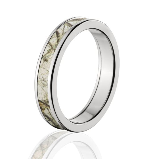 Licensed Realtree AP Snow Camo Ring Made In Durable Cobalt Chrome