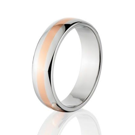 6mm Copper & Titanium Wedding Band, Titanium Ring with Copper