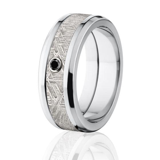 Meteorite Wedding Rings Black Diamond Meteorite Ring