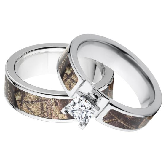 Outdoor RealTree AP Camo Wedding Ring Sets