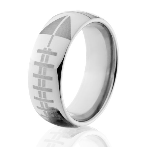 Titanium Football Bands, USA Made Rings