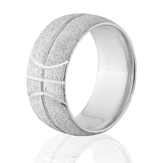 e47c3e99757d8 10mm Wide Basketball Ring Made With Solid Sterling Siver