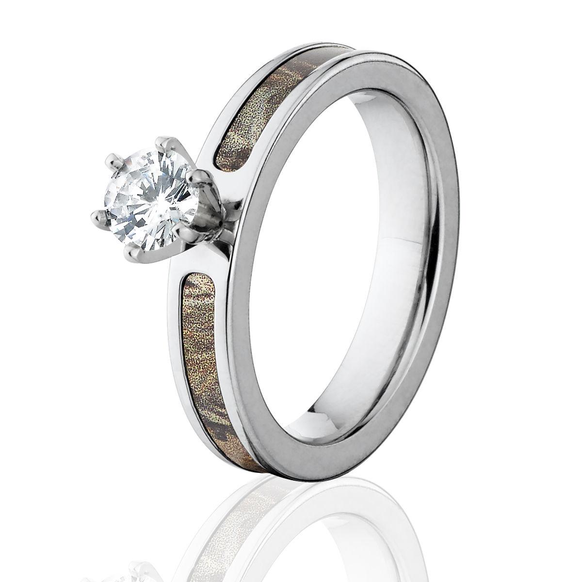 Realtree Wedding Rings: Realtree Max 4 Camo Engagement Ring