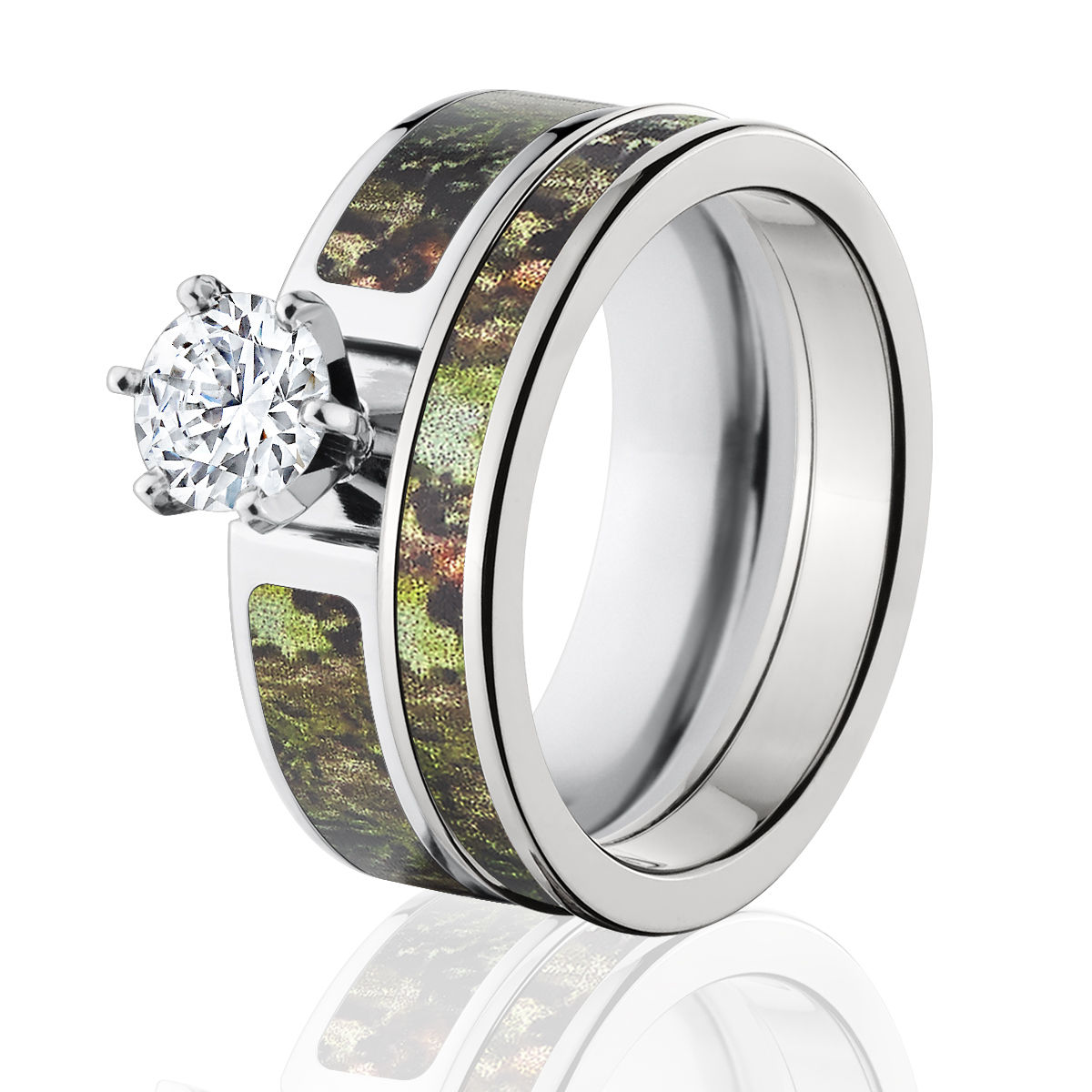 Licensed Mossy Oak Obsession Camo Bridal Set, Womens CZ Camo