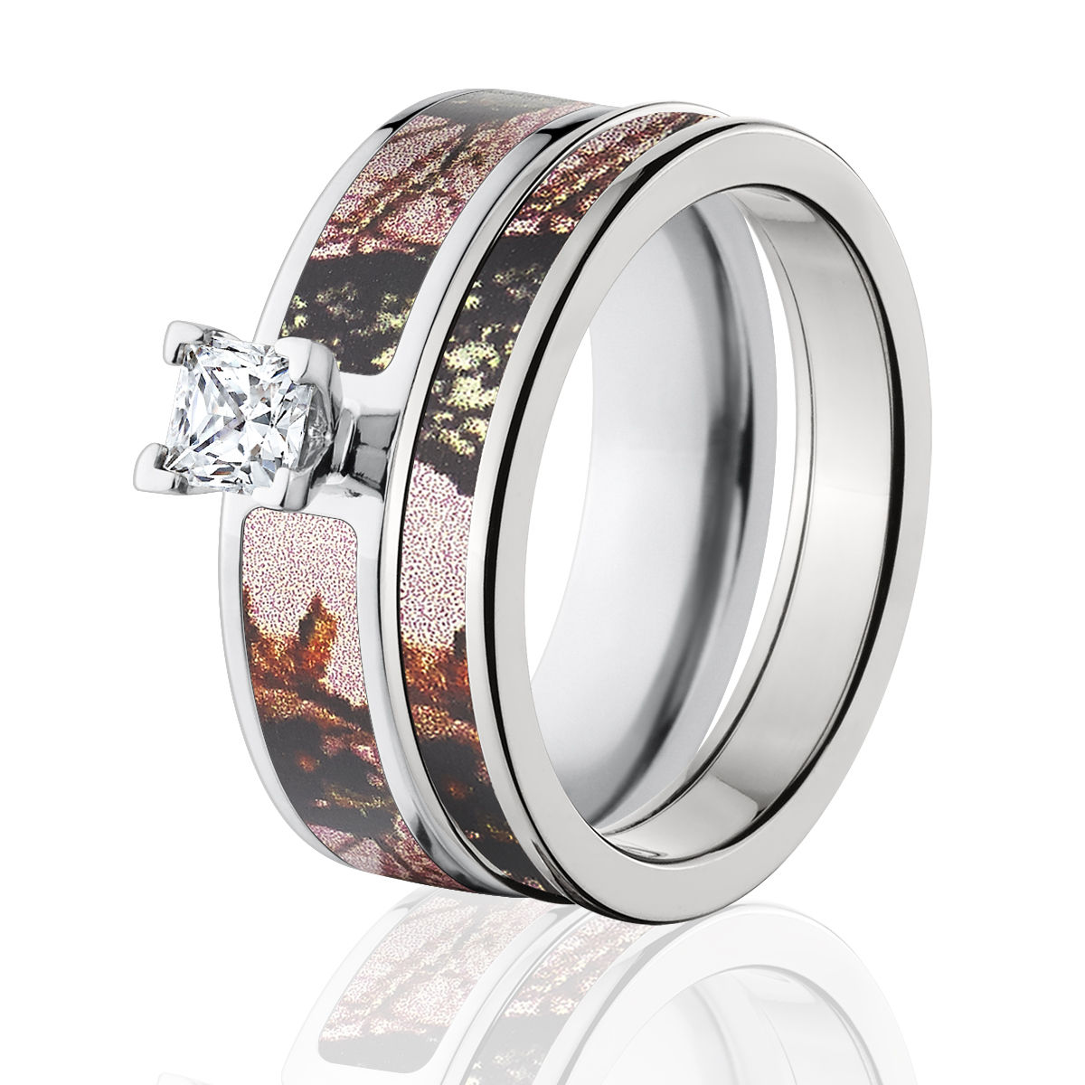 cheap camo wedding rings mossy oak pink up camo bridal set pink camo ring sets 2580