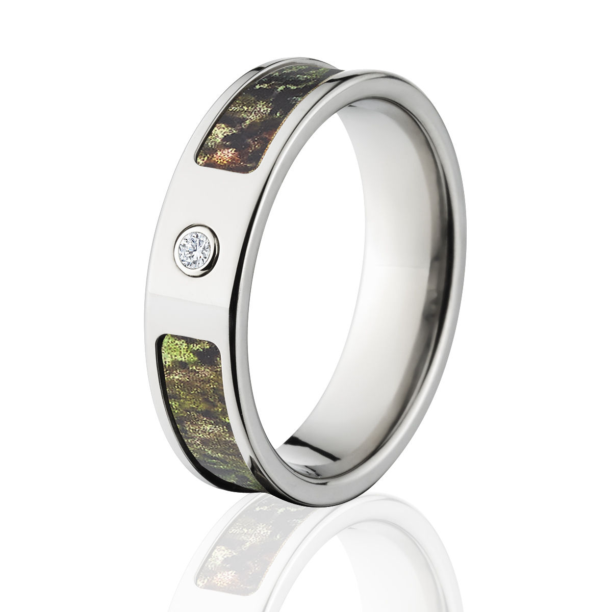 mossy oak obsession camo rings camouflage wedding bands obsession titanium camo ring w diamond an - Wedding Rings Camo