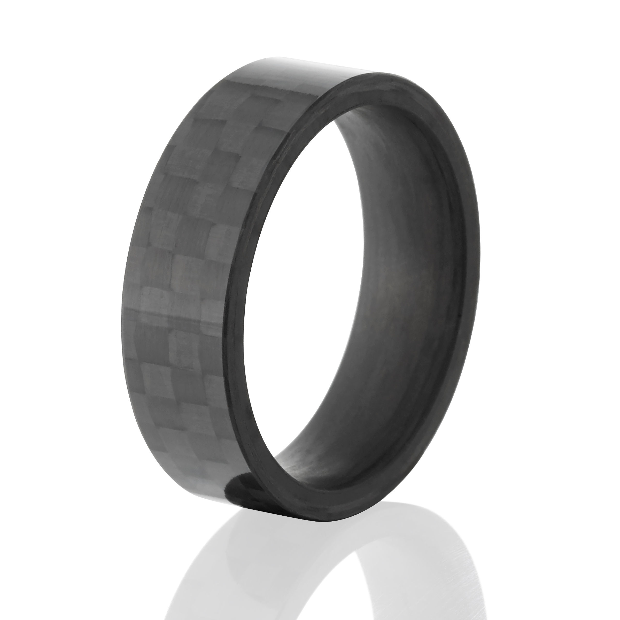 new wedding ring rings real polished oliver paul brookline products carbon fiber domed