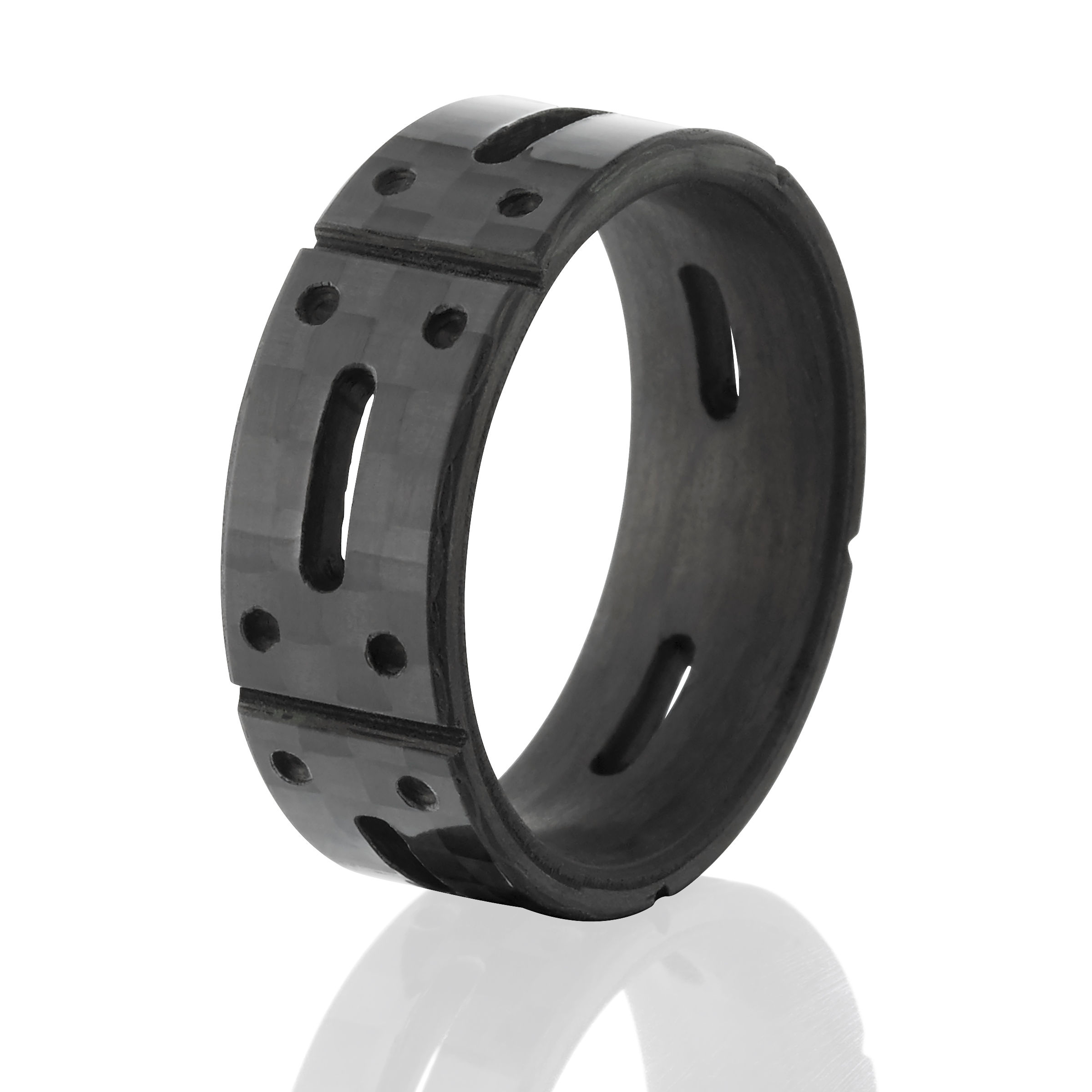 and ring tungsten niv black fiber rings rbbcfbssr inlay carbon bling carbide products blue wedding s
