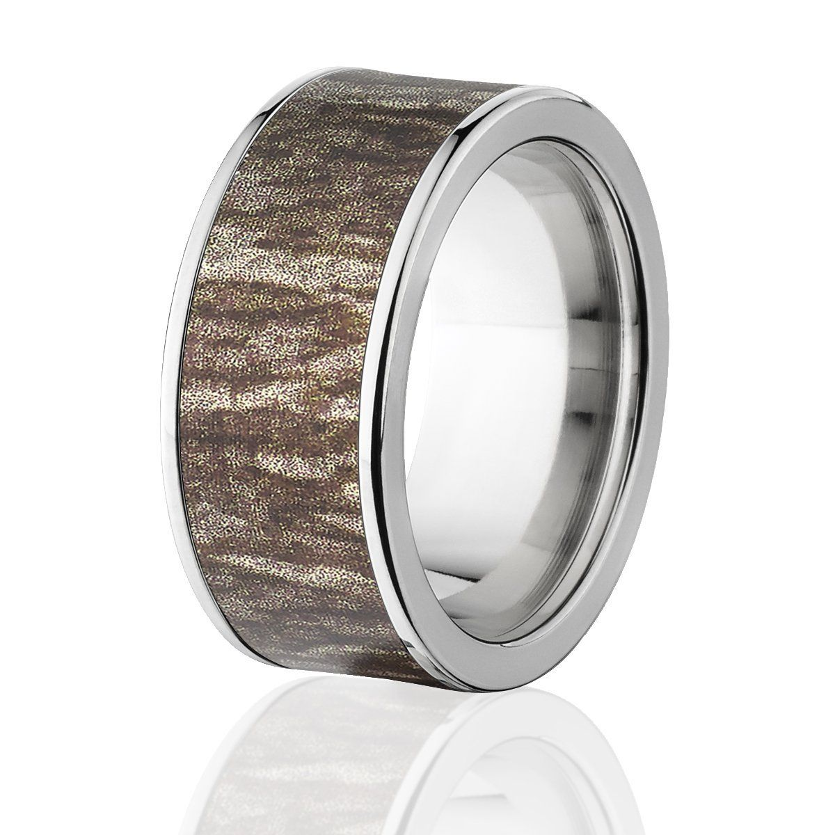 Camo Rings, Mens Camo Wedding Bands, Mossy Oak Bottomland Rings