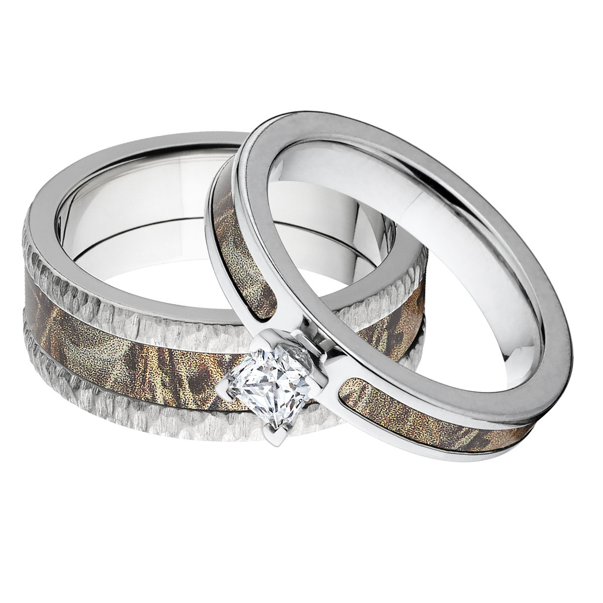 him and camo her camouflage prilosec wedding rings for tips