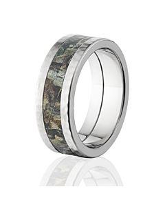 premium hammer finish realtree rings timber camo rings camo bands - Realtree Wedding Rings