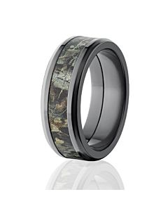 8mm beveled realtree advantage timber camo rings camo wedding bands - Camo Wedding Ring Set