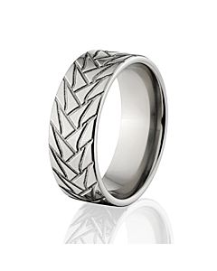 tire rings tire tread bands titanium tire bands - Mud Tire Wedding Rings