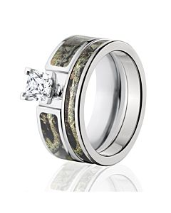 break up infinity bridal set womens camouflage wedding ring set - Camo Wedding Ring Sets
