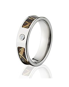 Realtree Max 5 Camo Rings Camouflage Wedding Bands Titanium Ring W Diamond And Comfort