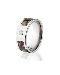realtree ap camo rings camouflage wedding bands titanium ap camo ring w diamond and comfort fit - Realtree Camo Wedding Rings