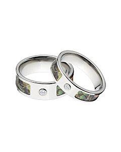 Mossy Oak New Break Up Camo Rings Camouflage Wedding Ring Set Titanium W