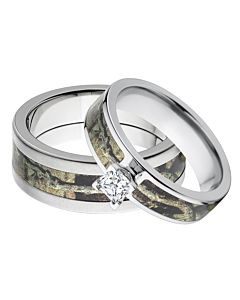 Camo Ring Sets His And Her Camo Rings Matching Rings Outdoor Rings