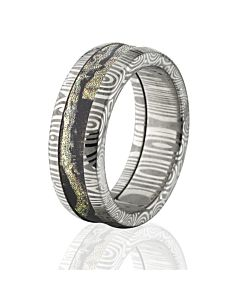 Damascus Break Up Infinity Camo Rings BUI Mens Band