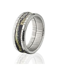 Damascus Steel Camo Rings BUI Mens